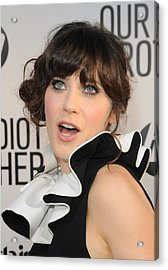 Zooey Deschanel At Arrivals For Our Acrylic Print by Everett