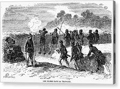Civil War: Black Troops Acrylic Print by Granger