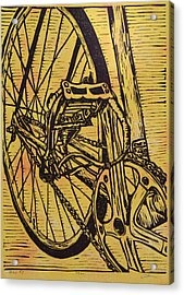 Acrylic Print featuring the drawing Bike 3 by William Cauthern