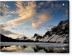 Bow Lake Acrylic Print by Ginevre Smith