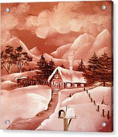 1140b Winter Scene Acrylic Print by Wilma Manhardt