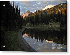 #12-4 Sunrise Mt Rainier Acrylic Print
