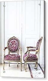 Luxury Antique Chair. Acrylic Print by Chavalit Kamolthamanon