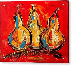 Pears Acrylic Print by Mark Kazav