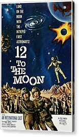 12 To The Moon, 1960 Acrylic Print by Everett
