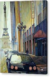 120 E Market Acrylic Print by Ryan Petrow