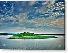 1206-9119 Arkansas River At Spadra Park  Acrylic Print by Randy Forrester