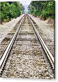 1207-9507 Train Tracks At Knoxville Acrylic Print by Randy Forrester
