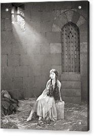Silent Film Still: Woman Acrylic Print by Granger