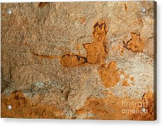 Natures Rock Art Acrylic Print by Jack R Brock
