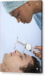 Cosmetic Surgery Acrylic Print by Adam Gault