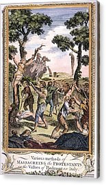 Foxe: Book Of Martyrs Acrylic Print by Granger