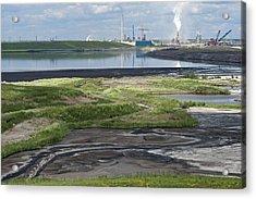 Oil Industry Pollution Acrylic Print by David Nunuk