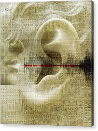 Voice Recognition Acrylic Print by Mehau Kulyk