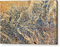 Natures Rock Art Acrylic Print by Jack R Brock