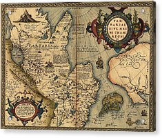 1570 Map Of Tartaria Spanning All Acrylic Print by Everett