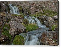 Waterfall Acrylic Print by Jorgen Norgaard