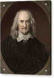 1660 Thomas Hobbes English Philosopher Acrylic Print by Paul D Stewart