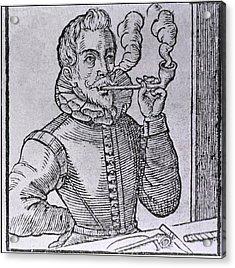 16th Century Dutchman Smoking Acrylic Print by Everett