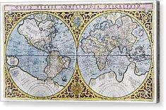 16th Century World Map Acrylic Print by Georgette Douwma