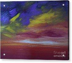 Seascape Sunset Acrylic Print