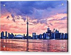 Toronto Sunset Skyline Acrylic Print