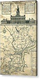 1752 Map Of Philadelphia, Pennsylvania Acrylic Print by Everett