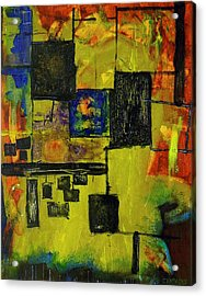 Acrylic Print featuring the painting Untitled by Teddy Campagna