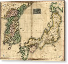 1815 Map Of Japan And Korea, Showing Acrylic Print by Everett