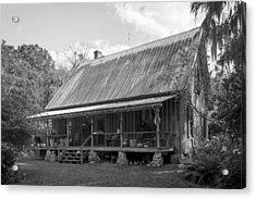 1850's Florida Cracker Farmhouse Acrylic Print by Lynn Palmer