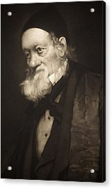 1889 Sir Richard Owen Portrait Old Age Cu Acrylic Print by Paul D Stewart