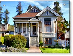 1890s Queen Anne Style House . 7d12965 Acrylic Print by Wingsdomain Art and Photography
