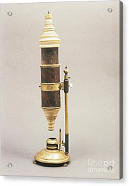 18th Century Microscope Acrylic Print by Tomsich