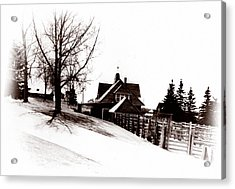 1900 Farm Home Acrylic Print by Marcin and Dawid Witukiewicz
