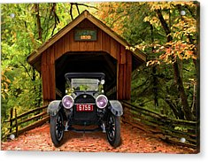 Acrylic Print featuring the photograph 1914 Reo Emerges by Bill Dutting