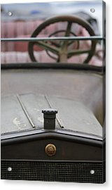1916 Winton Model 33 Touring Hood Ornament Acrylic Print by Jill Reger