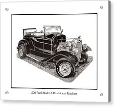 1930 Ford Model A Roadster Acrylic Print by Jack Pumphrey