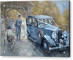 1930s Country Wedding  Acrylic Print by Peter Miller