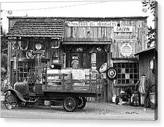 1930's Gas Station Acrylic Print