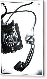 1930s Telephone Acrylic Print by David Ridley