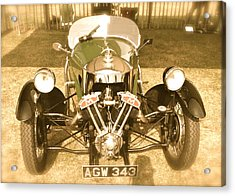 Acrylic Print featuring the photograph 1930s Three Wheel Morgan by John Colley