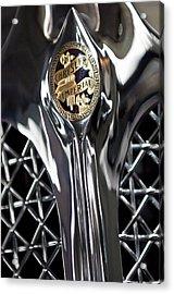 1931 Chrysler Cg Imperial Roadster Hood Emblem Acrylic Print by Jill Reger