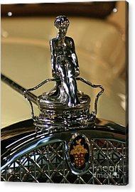 1931 Packard Hood Ornament Acrylic Print by Deborah  Smith