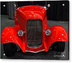 1932 Ford Roadster . Red . 7d9286 Acrylic Print by Wingsdomain Art and Photography