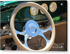 1932 Ford Roadster Steering Wheel And Guages . 5d16176 Acrylic Print by Wingsdomain Art and Photography