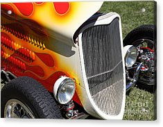 1933 Ford Roadster With Flames . 5d16237 Acrylic Print by Wingsdomain Art and Photography