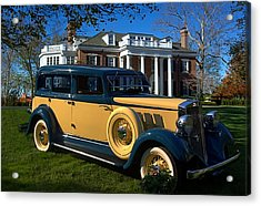 1933 Hupmobile Model K321 Sedan Acrylic Print by Tim McCullough
