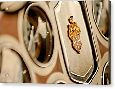 1934 Packard 1104 Super Eight Phaeton Emblem Acrylic Print by Jill Reger