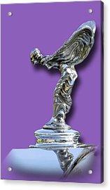 1934 Rolls Royce Spirit Mascot Acrylic Print by Jack Pumphrey