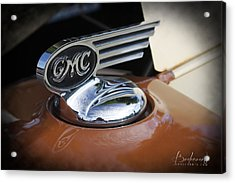 1936 Gmc Pickup Truck Hood Ornament Acrylic Print by Robin Lewis